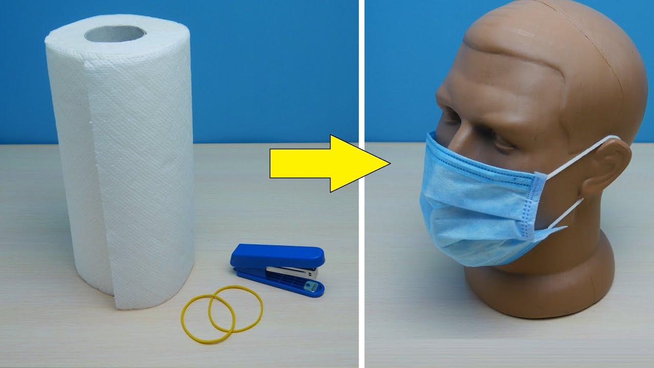 Как сделать медицинскую маску за 2 минуты.