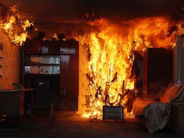 Пожар на улице Октябрьская